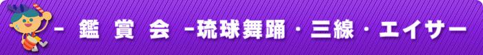 - 鑑 賞 会 -琉球舞踊・三線・エイサー